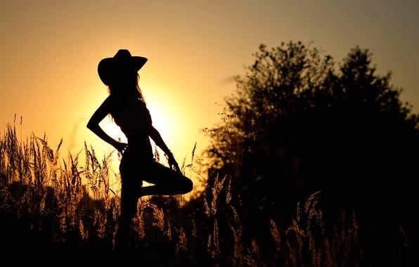 Picture girl, dance, silhouette, Mariya, country 3