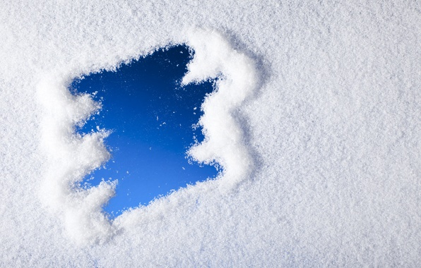 Picture winter, snow, snowflakes, blue, winter, snow