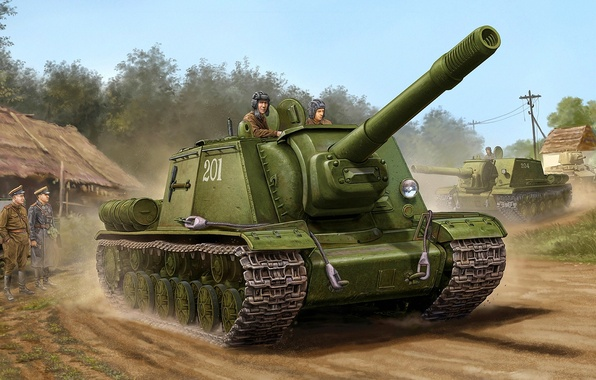Picture figure, the second world, sau, the red army, St. John's wort, SU-152
