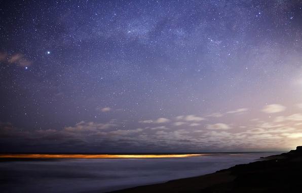 Picture stars, lights, The milky way, Bungula, Toliman, southern sky, Rigel