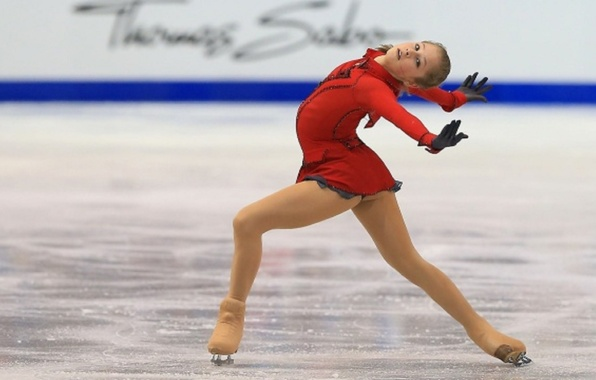 Picture flexibility, ice, hands, Russia, elegance, RUSSIA, Olympic champion, Yulia Lipnitskaya, skater, The world Cup, figure …