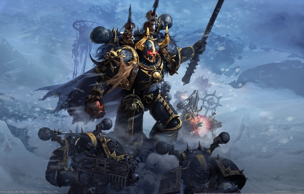 Picture magic, Chaos, MAG, skull, Warhammer, 40000, commander, bolter, Chaos Rising, space Marines, Dawn of War ...