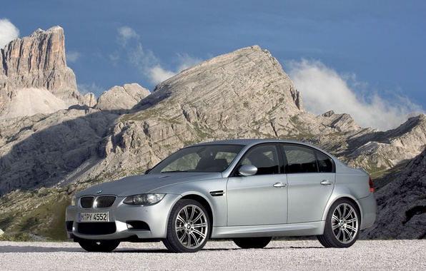Picture road, mountains, transport, landscapes, bmw, BMW, cars