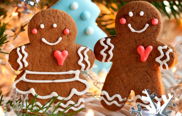 Picture winter, holiday, food, men, cookies, Christmas, sweets, New year, Christmas, figures, cakes, cookies, New Year, …