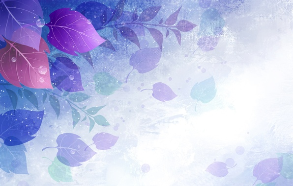 Picture purple, leaves, circles, vector