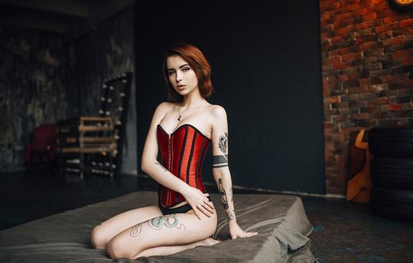 Women Redhead Necklace Tattoo Martin Strauss Porndig 1