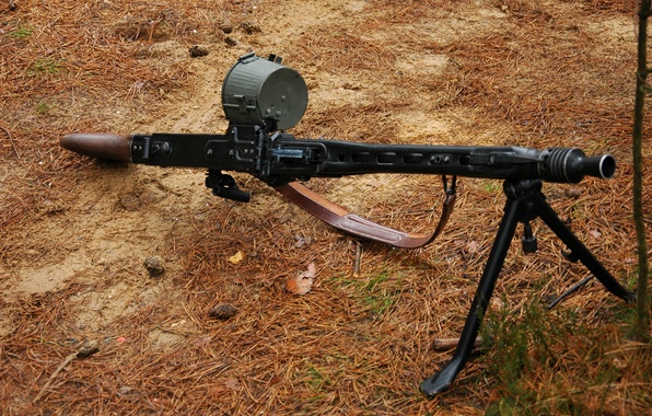 Picture war, machine gun, German, world, Second, times, MG 42, single, (Machine gun 42)