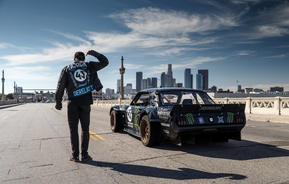 Picture Mustang, Ford, 1965, Los Angeles, RTR, Block, Ken, Gymkhana, Rear, Hoonicorn, SEVEN, 845 hp