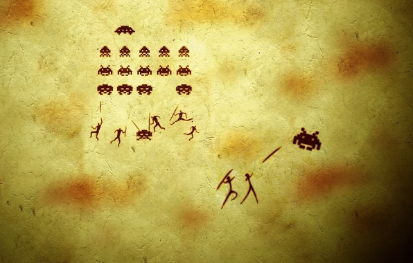 Picture background, people, the game, humor, bugs, the trick, spears, shooter