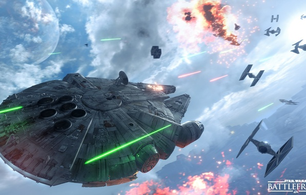 Picture star wars, star wars, battle, the battle, the rebels, Electronic Arts, dice, FPS, Millennium Falcon, …