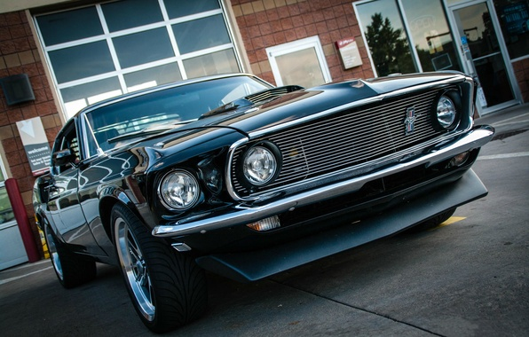 Picture car, machine, city, the city, Mustang, Ford, Mustang, Ford, kustom