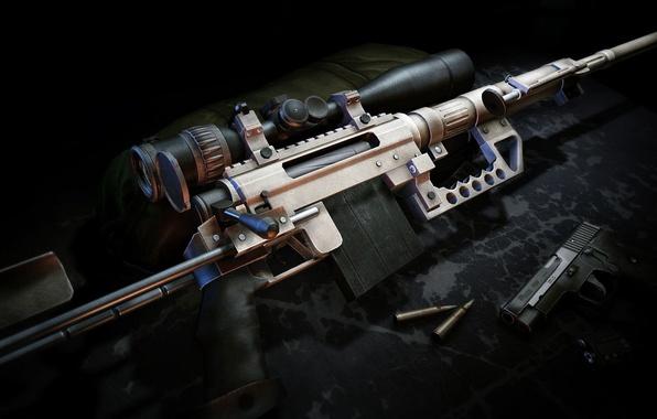 Picture weapons, guns, cartridges, sniper rifle, Sniper Ghost Warrior 2, CheyTac m200 Intervention
