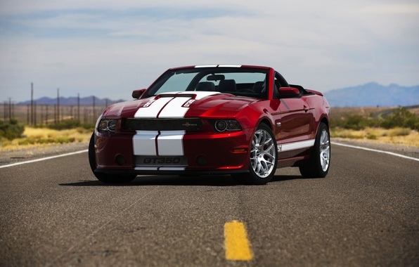 Picture road, tuning, Shelby, convertible, ford mustang, Ford Mustang, GT350