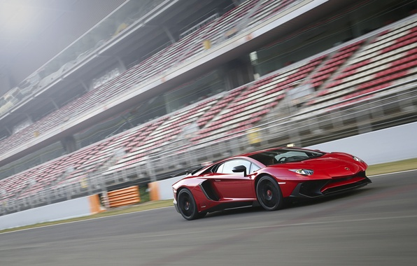 Picture car, speed, track, Lamborghini, red, car, speed, track, Aventador, LP 750-4, Superveloce