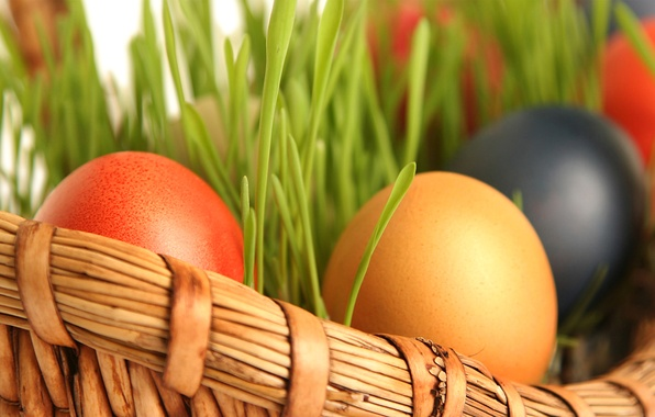 Picture eggs, spring, Easter, basket