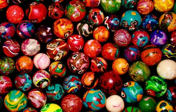 Picture balls, color, palette, colorful