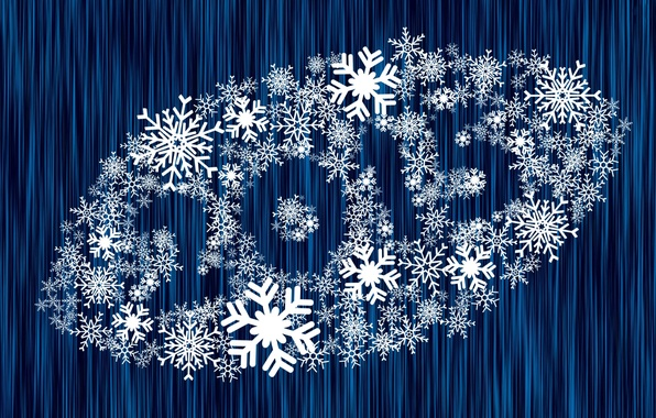 Picture snowflakes, background, new year, 2015