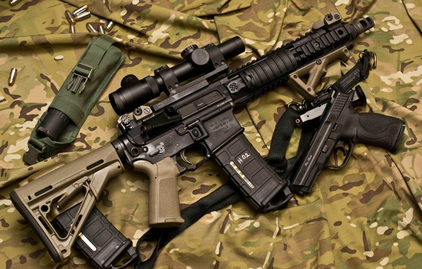 Picture gun, weapons, machine, optics, camouflage, rifle, assault, Larue Tactical, semi-automatic