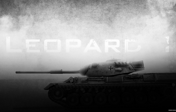 Picture dark, tank, world of tanks, wot, Leopard 1