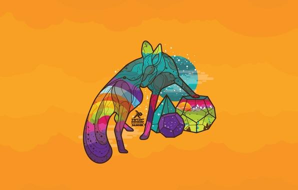 Geometric Animal Wallpaper 74 Images: Wallpaper The Sun, Animal, Vector, Rainbow, Morning, Fox