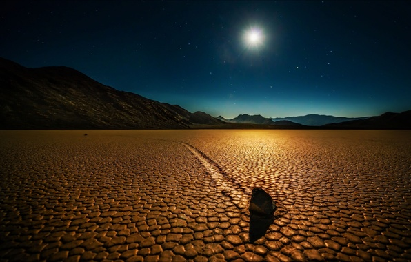 Picture night, desert, Nature, CA, USA, Death valley
