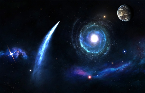Picture stars, the universe, planet, comet, galaxy