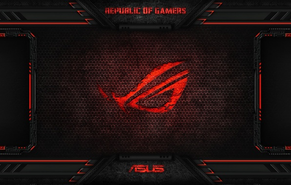 Picture red, game, asus, rog, asus rog