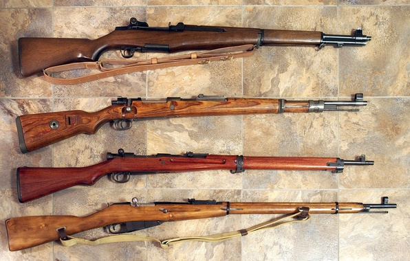 Picture weapons, rifle, 1935, OBR, Mosin, the second world war, Arisaka Type 30, Mauser 98k, 1891-1930, …