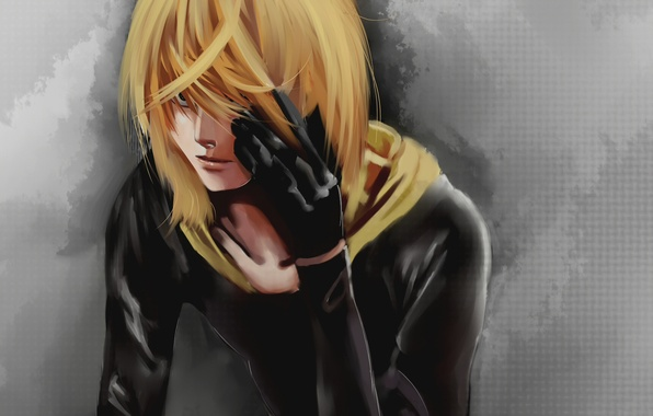 Picture paint, figure, gloves, guy, blonde, Mello, DEATH NOTE