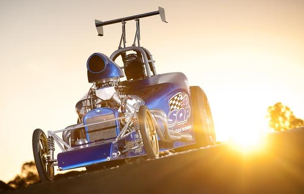 Picture the sun, Blik, front, drag, sun, race car