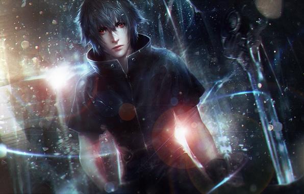 Picture guy, Final Fantasy XV, final fantasy 15, night light sky