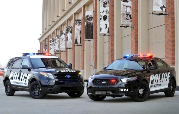 Picture Ford, police, jeep, sedan, Ford, Taurus, Sedan, spec.version, Explorer, Taurus, Police Interceptor, Explorer