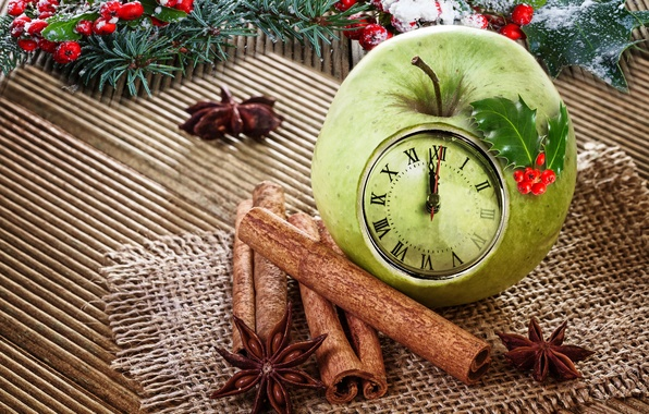 Picture decoration, Apple, Christmas, New year, cinnamon, Christmas, decoration, xmas, Merry