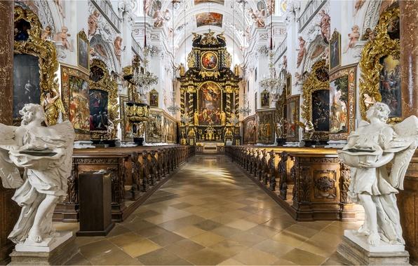 Picture Austria, angels, Church, Cathedral, religion, the monastery, sculpture, Garsten, Collegiate Church Of Garsten