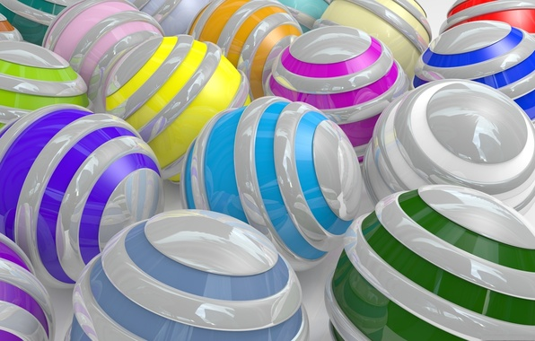 Picture color, balls, strips