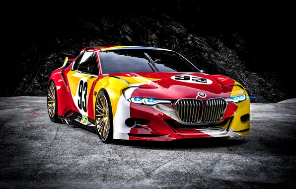 Picture car, bmw, hommage, csl 3.0