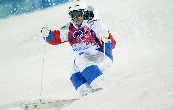 Picture snow, Olympics, Russia, Sochi, 2014, Alexander Smyshlyaev, freestyle Mogul