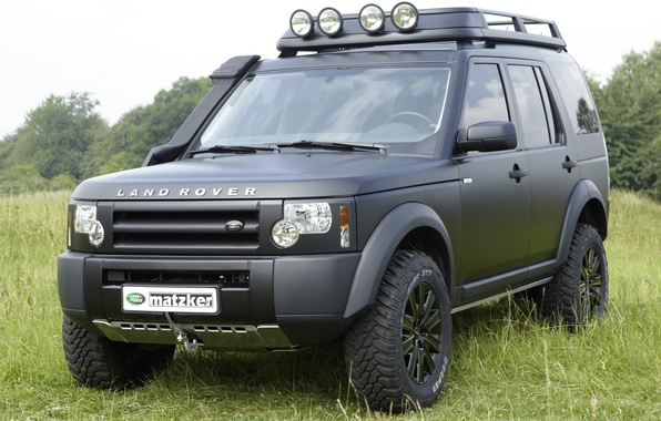 Picture background, black, jeep, SUV, Land Rover, the front, Land Rover, Discovery 3, Discovery 3, matzker