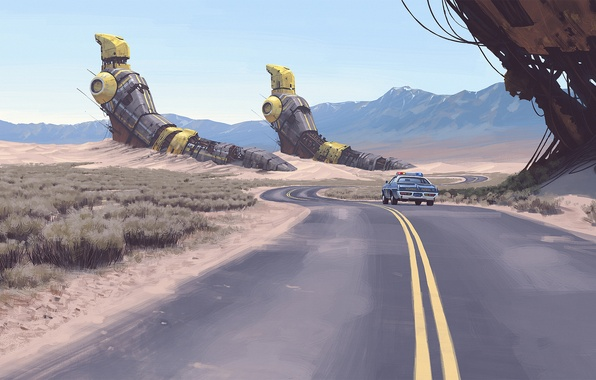 Picture Figure, Art, Fiction, Simon Stalenhag