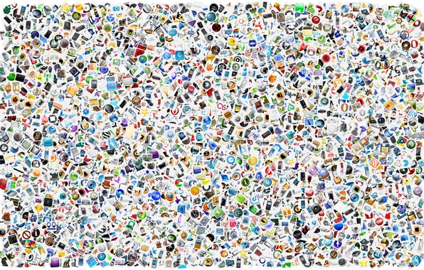 Picture icons, Wallpaper, web, scatter