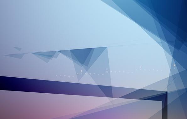 Picture line, triangles, corners, minimalism