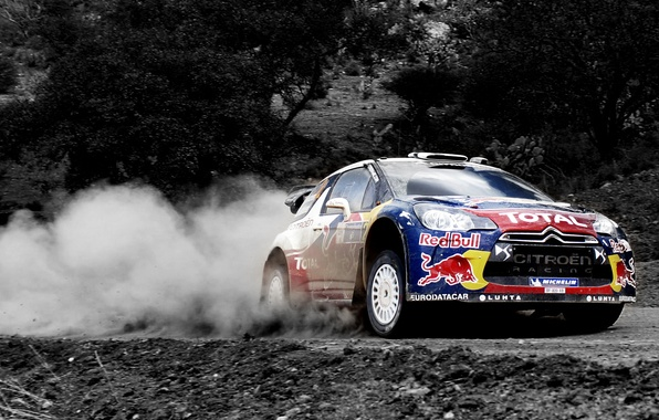 Picture Dust, Sport, Machine, Speed, Citroen, Citroen, Red Bull, DS3, WRC, Rally, Rally
