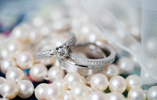 Picture macro, ring, tape, pearl, wedding, engagement