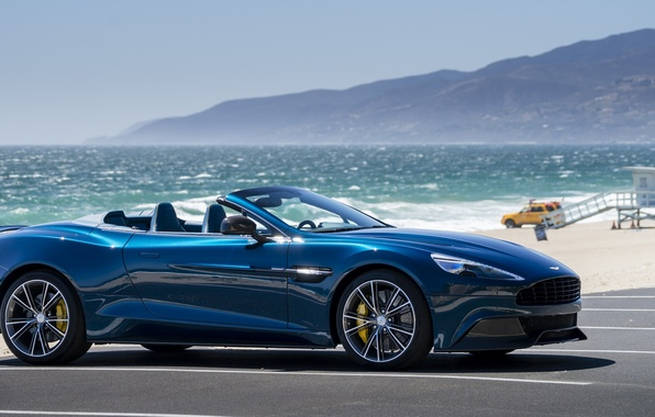 Picture sea, mountains, coupe, convertible