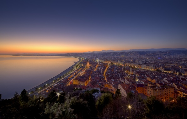 Picture night, France, good night nice