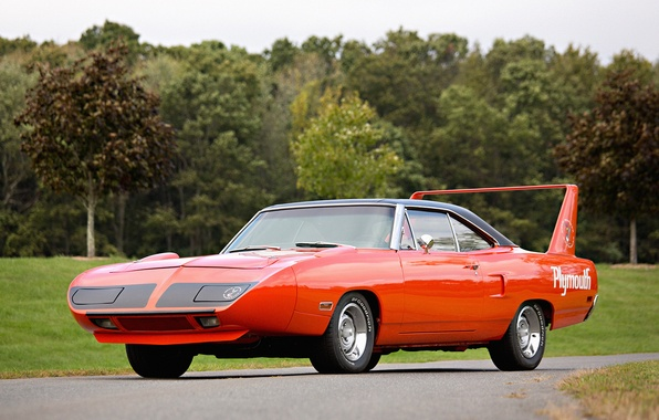 Picture red, Plymouth, Muscle car, Plymouth, Superbird, Road Runner