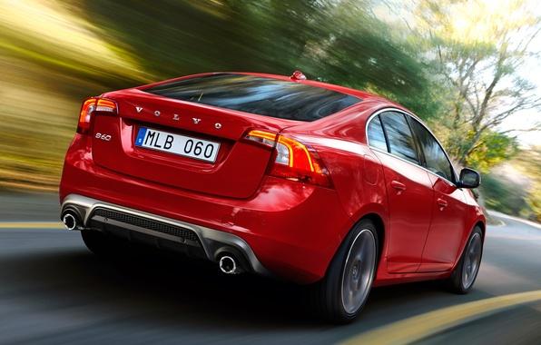 Picture road, auto, speed, Volvo, S60, R-design