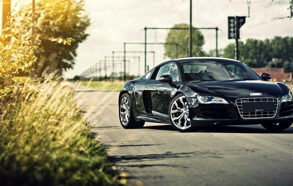 Picture car, machine, car, Audi R8 Black