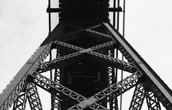 Wallpaper Design, Bridge, Pattern, Black And White, Iron