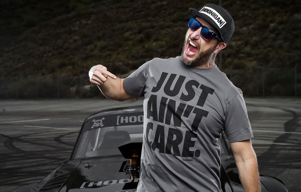 Picture Mustang, Ford, Ken Block, Man, Shirt, Racer, Hoonigan, 2015, Cap, Hoonicorn